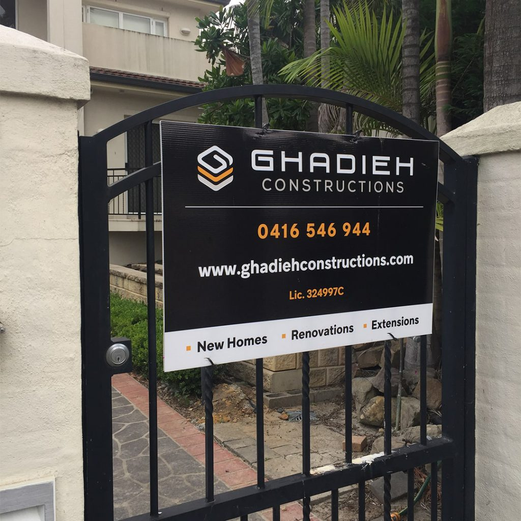 Ghadieh construction signage WebFormatted