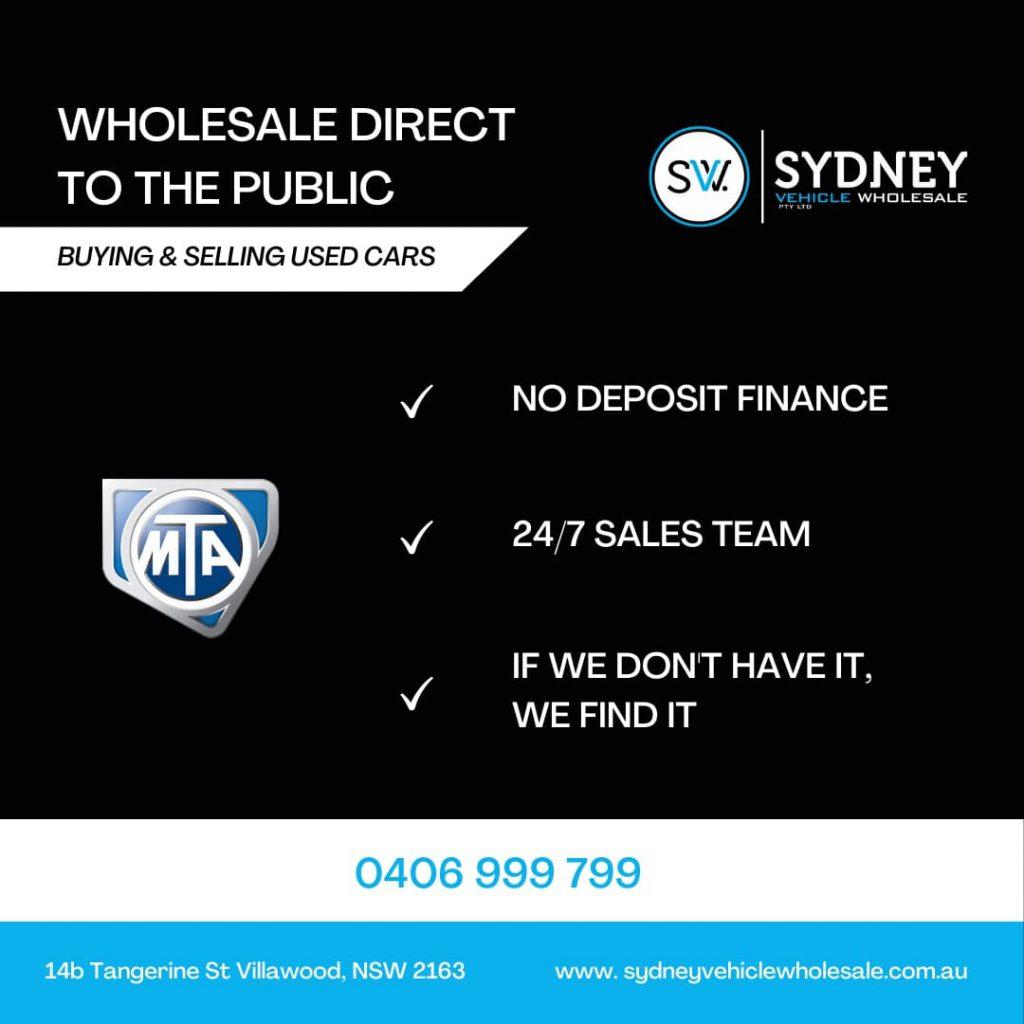 sydney vehicle wholesale infographics